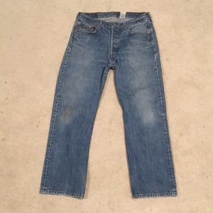 LEVI'S 501 Distressed Jeans Straight Fit 34/30